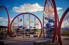 Colorful Suspended Playgrounds for Children