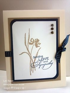 Love and Sympathy - Greeting Card Stampin Up All Occasion Hand Stamped