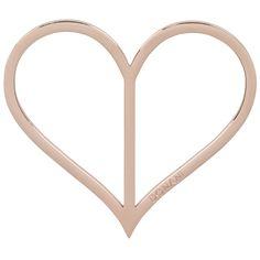 Dirndlspangerl Herz in echt Schmuckedestahl rosévergoldet. Tragbar als Accessoire für die Dirndlschürze oder Kette.