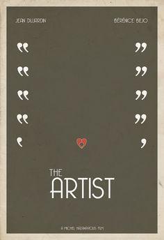 "Minimal movie poster ""The Artist"" by Hunter Langston"