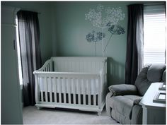 Wander through our hip neutral baby room. Get more decorating ideas at http://www.CreativeBabyBedding.com