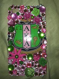 AKA iPhone case Aka Sorority, Alpha Kappa Alpha Sorority, Sorority Life, Greek Paraphernalia, Divine Nine, Everything Pink, Greek Life, Green Fashion, Pretty In Pink