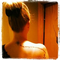 Be the one to guide me but never hold me down.  Tattoo. Anchor. Compass. Shoulder.  Back of neck