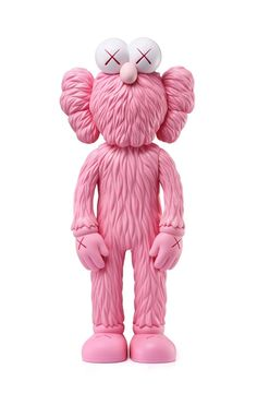 Kaws Pink BFF new, unopened in its original packaging. A well-received work and variation of Kaws' large scale BFF sculpture is in Los Angeles's Playa Vista neighborhood Completely sold out; scarce in this color. Vinyl Toys, Vinyl Art, Kaws Figurine, Kaws Iphone Wallpaper, Kaws Toys, Kaws Painting, Hypebeast Wallpaper, Toy Art, Jiyong