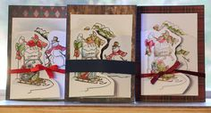 Hutton's arts and crafts. Art Impressions Christmas Scene TryFold. Handmade card. Christmas card.
