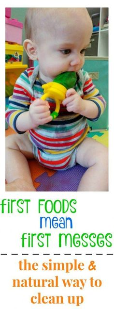 first foods lead to first messes - here's a super simple and natural way to…
