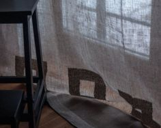 Flax handmade by flaxroom Hardwood Floors, Flooring, Linen Curtains, Hand Weaving, Handmade, Crafts, Etsy, Vintage, Wood Floor Tiles