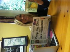 Lauren enjoys her mornings with a cup of tea and a good read!