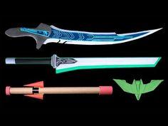 05 Easy Origami Ninja Star/Sword/Knife/Gun - How to make Origami Knife, Origami Sword, Origami Weapons, Instruções Origami, Oragami, Cool Paper Crafts, Paper Crafts Origami, Best Paper Plane, Diy For Kids