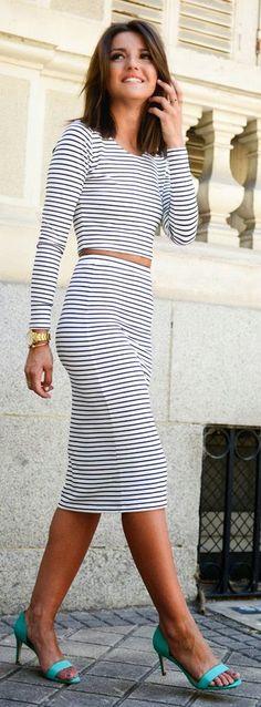 Women's fashion | Nautical crop top