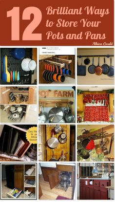 12 Ways to Store Your Pots and Pans