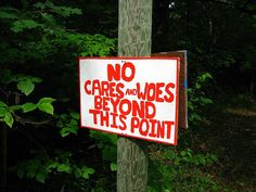 Love this sign for a camp entrance.