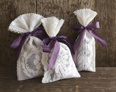 For this project Im using vintage lace trim to create simple lavender sachets. You can also use lace fabric cut into str Lavender Crafts, Lavender Bags, Lavender Sachets, Nursing Home Crafts, Easy Yarn Crafts, Christian Crafts, Crafts For Seniors, Elderly Crafts, Small Sewing Projects