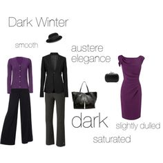 """""""Dark Winter - an exercise"""" by silverwild on Polyvore"""