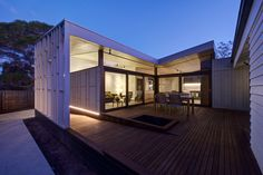Timber decks can provide a practical outdoor space no matter the state of the yard. Get all the timber deck inspiration you need. Sea Container Homes, Shipping Container Homes, Home And Living, Home And Family, Timber Deck, Roof Window, Granny Flat, Open Plan, Nice View