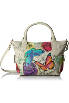 (This is an affiliate pin) Anna by Anuschka Handpainted Leather Women's Convertible Large Tote Shoulder Handbags, Shoulder Bag, Large Tote, Convertible, Hand Painted, Floral, Anna, Leather, Jewelry