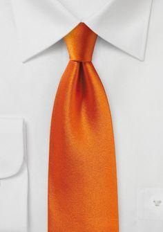 Kravatte Satinglanz orangerot