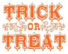 Halloween Trick or Treat Vinyl Wall Art