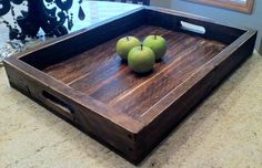 Aimee Large Reclaimed Wood Serving/Ottoman Tray by knottypallet