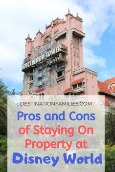 Pros and Cons to Staying On Property at Disney World Disney On A Budget, Disney Vacation Planning, Disney Tips, Trip Planning, Disney Resort Hotels, Walt Disney World Vacations, Hotels And Resorts, Disney Travel, Best Family Vacations