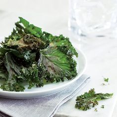 How to Make Kale Chips-- @EatingWell #snack #healthy #eatkale