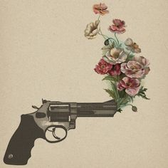 floral gun tattoo  Learn how to make $500 to $3000 dailly! Click here:  http:// | tattoos picture gun tattoo