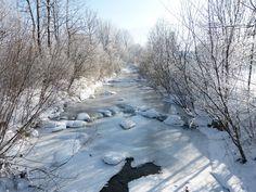 Inverno, Fiume, Congelati, Neve, Banca, Natura