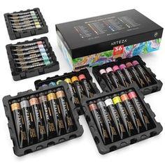 Metallic Acrylic Artist Paint, 22ml Tubes - Set of 36 Outdoor Acrylic Paint, Acrylic Paint Set, Metallic Paint, Just Shop, Thing 1, Alcohol Markers, Marker Art, Pen Sets, Gel Pens