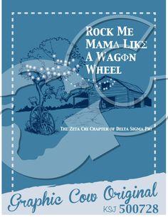 Rock Me Mama like a Wagon Wheel barn tree farm country #grafcow