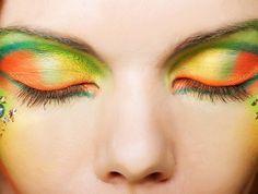 beautiful make-up | beauty make up orange grün