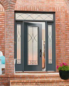 front doors with black n the glass | ... door glass - Designer collection - Elyse decorative door glass
