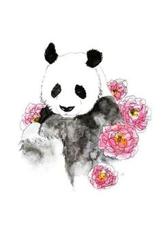 Panda Art Print by Celia Libelle – X-Small – Hobbies paining body for kids and adult Niedlicher Panda, Panda Art, Panda Wallpapers, Cute Wallpapers, Cute Panda Wallpaper, Panda Painting, Graffiti, Panda Drawing, Cute Drawings