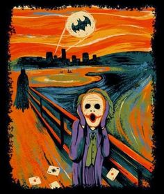 The Art of Surrealism: Edvard Munch - The Scream Batman Joker Parody
