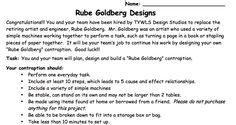 Rube Goldberg - pop a balloon, ring a bell