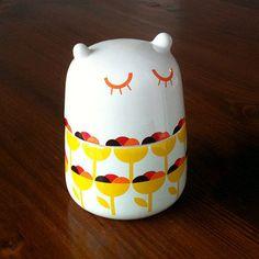 Lil Bubba by camilaprada: Small storage jar. Made of bone china #Storage_Jar #camilaprada