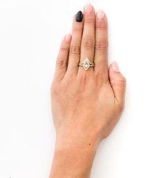 Kite Engagement Ring: Worn