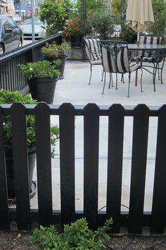 black picket fence