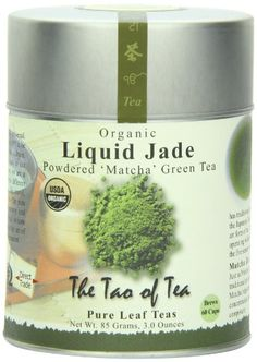 The Tao of Tea Liquid Jade Powdered Matcha Green Tea Loose Leaf Tin * Check this awesome product by going to the link at the image. (This is an affiliate link and I receive a commission for the sales) Green Tea Vs Coffee, Green Tea Ice Cream, Organic Matcha Powder, Matcha Green Tea Powder, Pure Leaf Tea, Loose Leaf Tea, Tao, Tea Labels, Green Tea Recipes