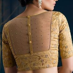 design blouse net net blouse designYou can find Designer blouse patterns and more on our website Indian Blouse Designs, Kurta Designs, Netted Blouse Designs, Saree Blouse Neck Designs, Stylish Blouse Design, Fancy Blouse Designs, Bridal Blouse Designs, Latest Design Of Blouse, New Saree Designs