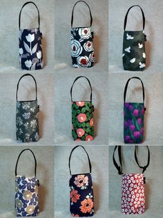 Fabric Flower Tutorial, Fabric Flowers, Fabric Tote Bags, Bottle Bag, Quilted Bag, Knitted Bags, Mini Bag, Diy Clothes, Pouch