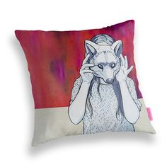 Art Cushion Cover  'Fool' by GretelGirlDraws on Etsy