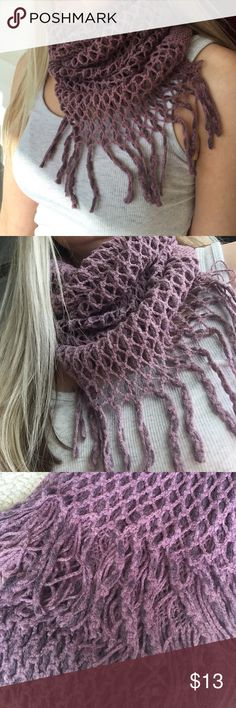 Infinaty Scarf! New! Deep Purple infinity scarf with fringe! New in package! Chic and fun for fall! ALE Accessories Scarves & Wraps