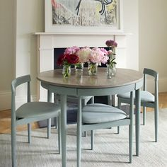 Ideas for Studio....Round table with four chairs