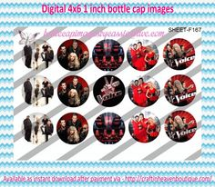"""1"""" Bottle Caps (4X6) F167 the voice celebrities bottle cap images #celebrities #bottlecap #BCI #shrinkydinkimages #bowcenters #hairbows #bowmaking #ironon #printables #printyourself #digitaltransfer #doityourself #transfer #ribbongraphics #ribbon #shirtprint #tshirt #digitalart #diy #digital #graphicdesign please purchase via link http://craftinheavenboutique.com/index.php?main_page=index&cPath=323_533_42_60"""