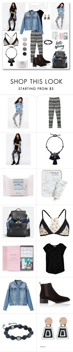 """""""Aztec Style"""" by ludmyla-stoyan ❤ liked on Polyvore featuring Boohoo, ASOS, Lanvin, Australian Bodycare, Library of Flowers, Coach, Terre Mère, LoveStories, Lollia and Bobeau"""