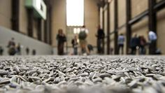 8 million porcelain sunflower seeds in the Tate Modern, London, by Ai Weiwei.