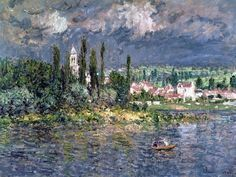 petitpoulailler: bofransson: Claude Monet (French Impressionist, 1840-1926) ~ Landscape with a Thunderstorm