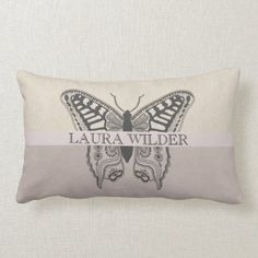 Personalized Elegant Artistic Butterfly Lumbar Pillow