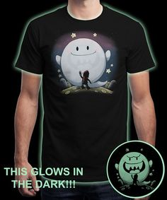 """Boo friend - glow with the truth"" is today's £8/€10/$12 tee for 24 hours only on www.Qwertee.com Pin this for a chance to win a FREE TEE this weekend. Follow us on pinterest.com/qwertee for a second! Thanks:)"