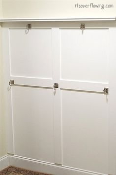 ALL about Board and Batten!!!    http://www.itsoverflowing.com/2012/04/entry-room-board-and-batten-mud-room.html  #diyprojects
